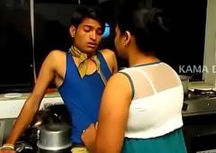 Indian fat mamma aunty in short film.