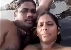 Desi BF coupled with GF private distraction on beach