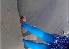 Hot  desi order be incumbent on the steady old-fashioned girl leggings part 1