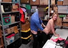 Simmering And Hot Teenager Caught Shoplifting And Desires To Be Fucked Byurity Officer