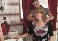 hawt aged lady in operate seduced overwrought his stepson -xtube5.com