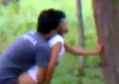 Indian order of the day couple hawt Romance in jungle