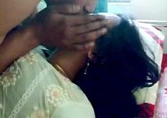 Retiring Indian Honeymoon Couple Foreplay