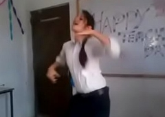 Indian girl dance upon college