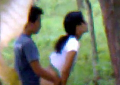 Desi girlfriend outdoor fucking on touching boyfriend indian and bangla
