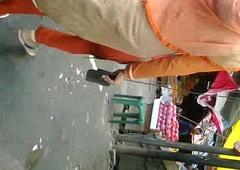 Bangladeshi sexy ass in orange salwar walking