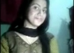 Cute indian school girl undressing showing boobs and pussy to boyfriend