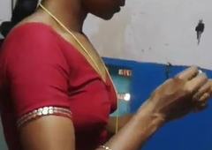 Tamil aunty Saree premises