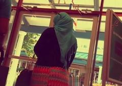 hijab fit together big ass ambler upon street