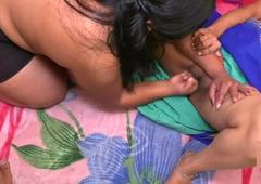 Indian Lesbian Bhabhi And Youthful Girl Hindi Sexual horde