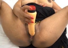 Indian Bhabhi Enjoy With Sexual intercourse toy downland Saree