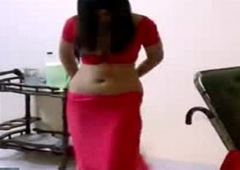Saree Removal Wide of Hot Indian Unfocused