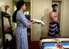 South Indian TV actor enmeshed naked in underwear in a TV show