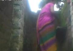 Indian village aunty in France pissoir